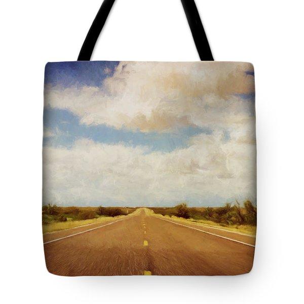 Texas Highway Tote Bag