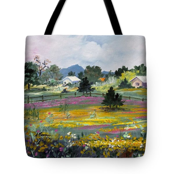 Texas Hillcountry Flowers Tote Bag