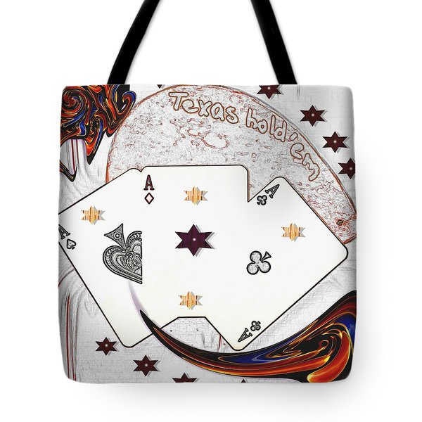 Texas Hold Em Poker Tote Bag by Pepita Selles