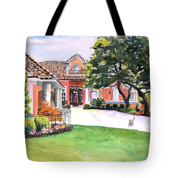 Texas Home Spanish Tuscan Architecture  Tote Bag