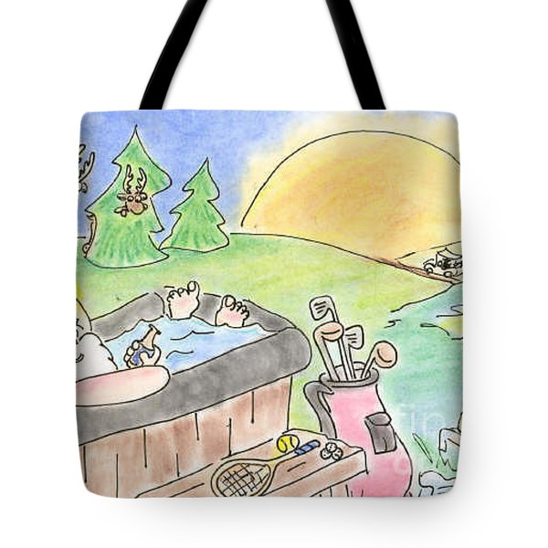 Texas Hot Tub Santa Tote Bag by Vonda Lawson-Rosa
