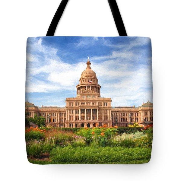 Texas Impressions Texas State Capitol II Tote Bag