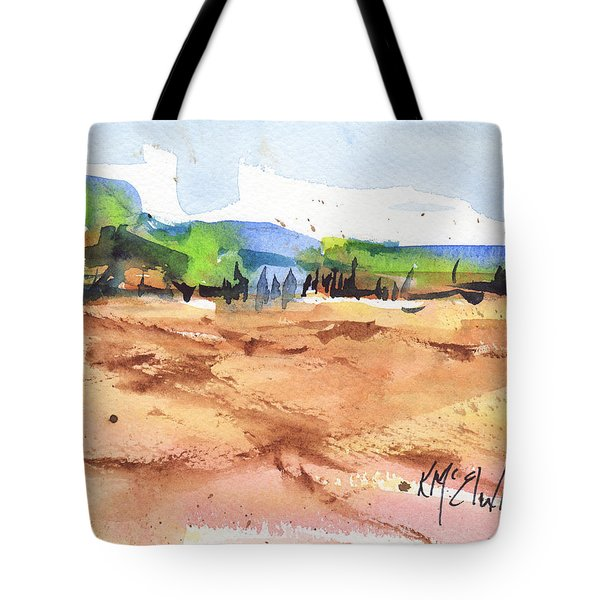 Texas Landscape In Watercolor Painting By Kmcelwaine Tote Bag