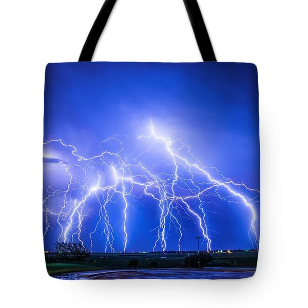 Texas Light Show Tote Bag