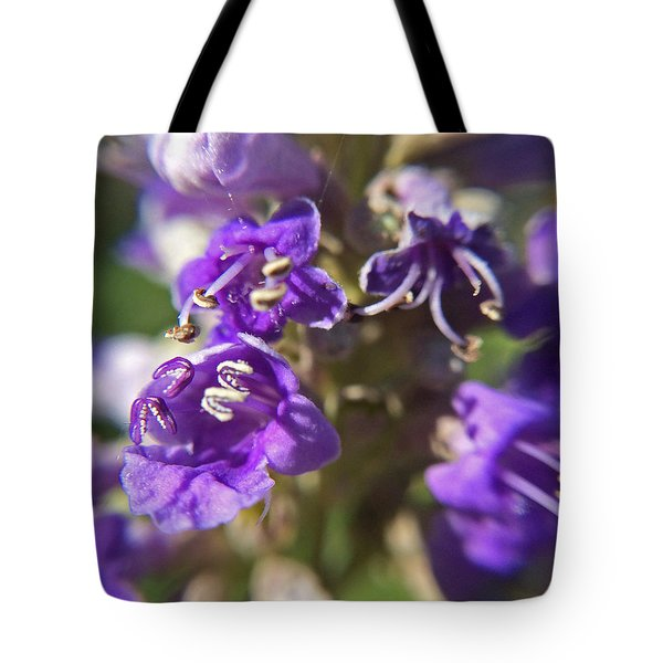 Tote Bag featuring the photograph Texas Lilac Chaste Tree Macro by Robyn Stacey