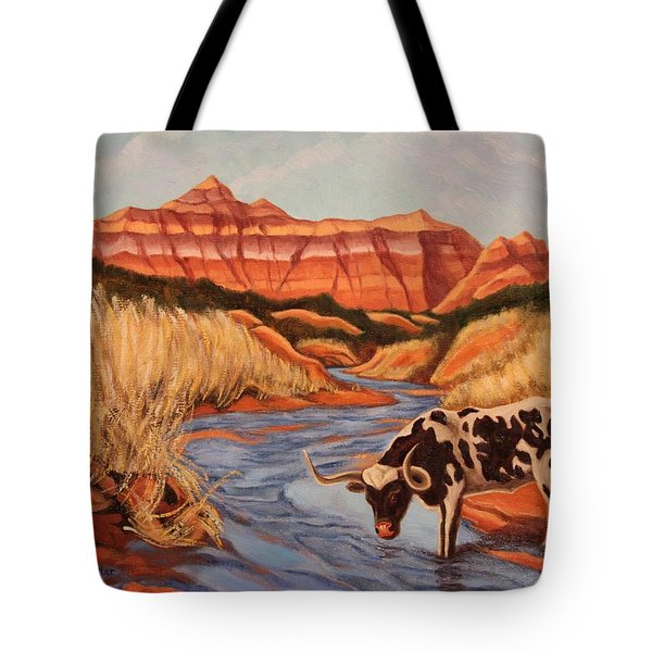 Texas Longhorn In Palo Duro Canyon Tote Bag