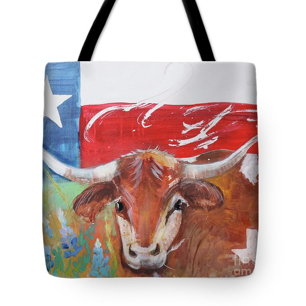 Tote Bag featuring the painting Texas Longhorn by Robin Maria Pedrero