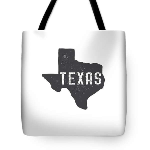 Tote Bag featuring the digital art Texas Map Tee by Edward Fielding