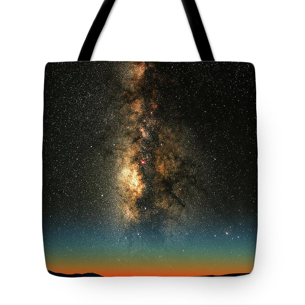 Tote Bag featuring the photograph Texas Milky Way by Larry Landolfi