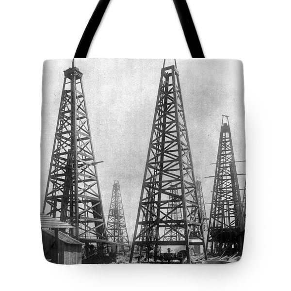 Tote Bag featuring the photograph Texas: Oil Derricks, C1901 by Granger