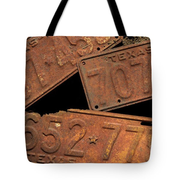 Texas Plates Tote Bag