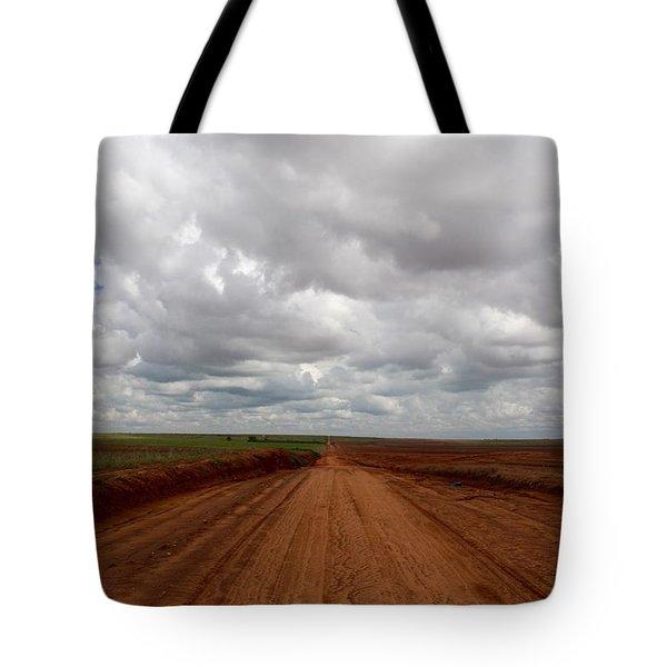 Texas Red Road Tote Bag
