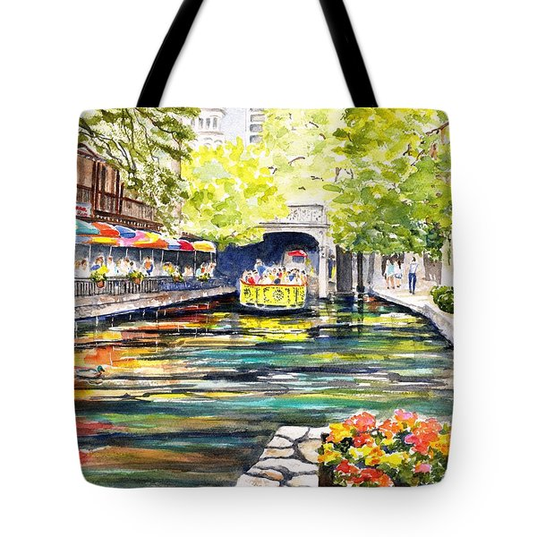 Texas San Antonio River Walk Tote Bag
