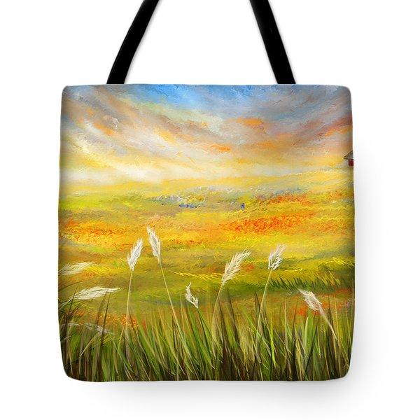 Texas Scene - Texas Art Tote Bag