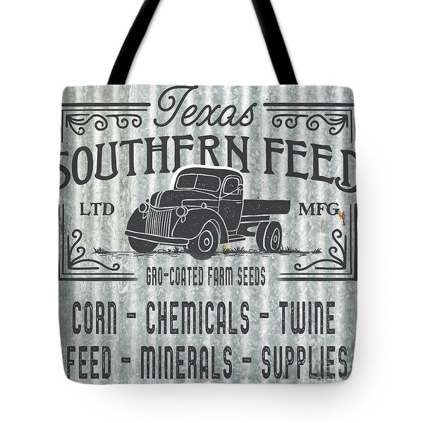 Tote Bag featuring the digital art Texas Southern Feed Sign by Edward Fielding