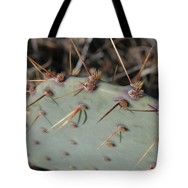 Tote Bag featuring the photograph Texas Spikes by Laddie Halupa