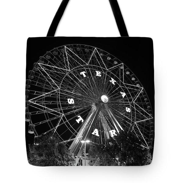 Texas Star 061116 V2bw Tote Bag