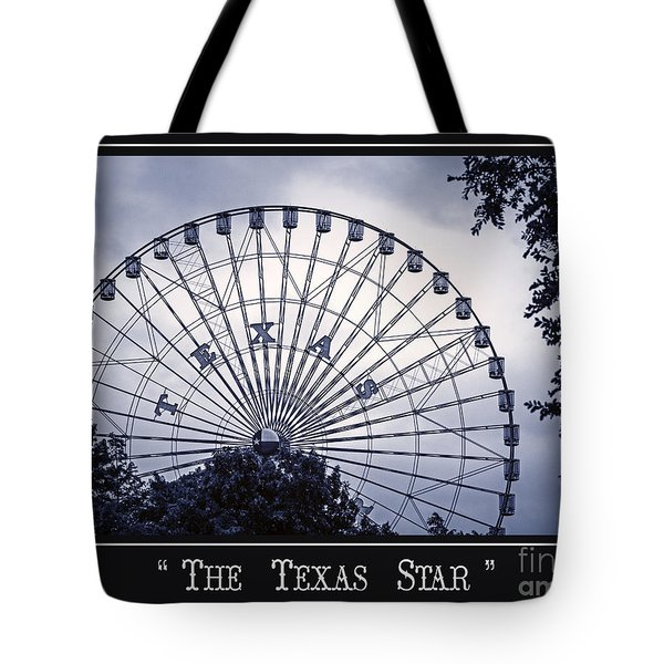 Texas Star In Blue Tote Bag