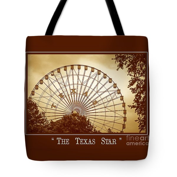 Texas Star In Gold Tote Bag