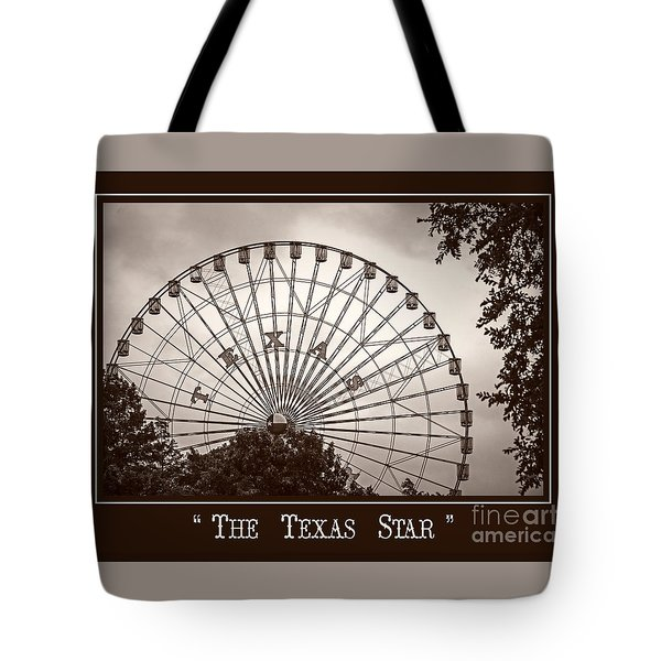 Texas Star In Sepia Tote Bag