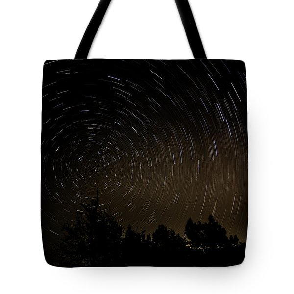 Texas Star Trails Tote Bag