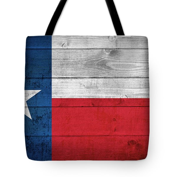 Tote Bag featuring the photograph Texas State Flag by Taylan Apukovska
