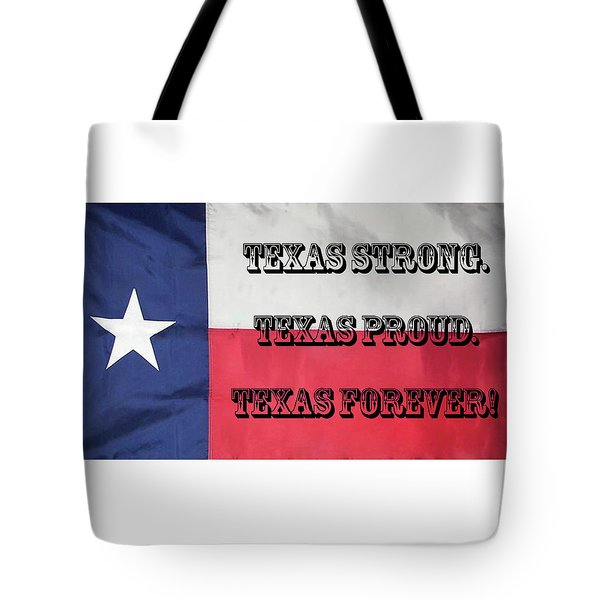 Tote Bag featuring the digital art Texas Strong by Joe Paul