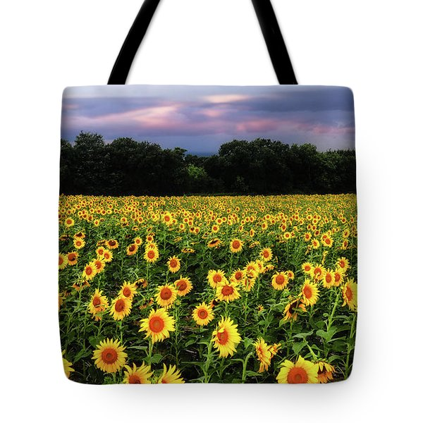 Tote Bag featuring the photograph Texas Sunflowers by Robert Bellomy
