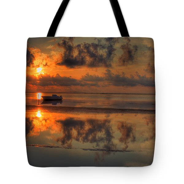 Texas Sunset Gulf Of Mexico Tote Bag by Kevin Hill