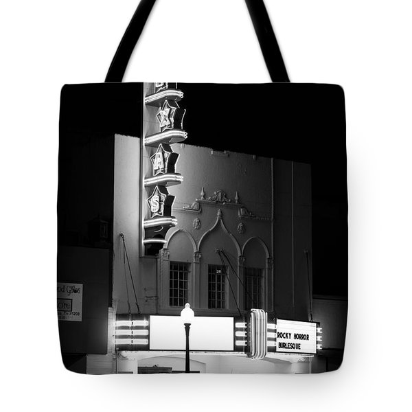 Texas Theater Oak Cliff Bw Tote Bag