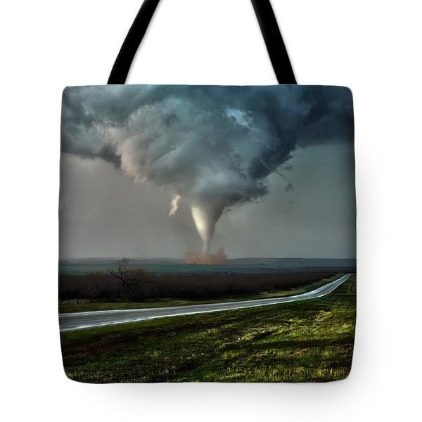 Texas Twister Tote Bag by James Menzies