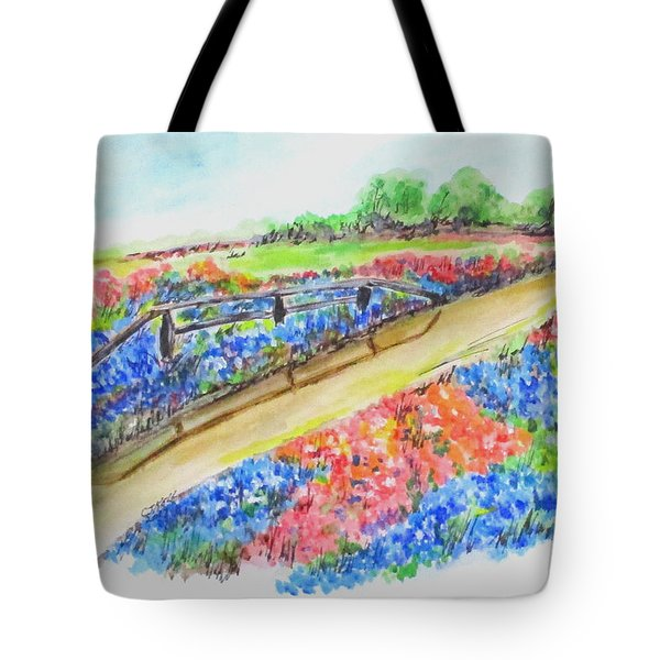 Texas Wild Flowers Tote Bag
