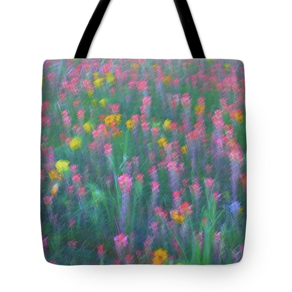 Texas Wildflowers Abstract Tote Bag