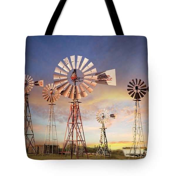 Texas Windmills Tote Bag