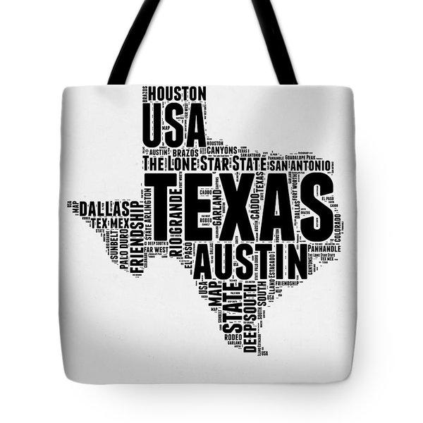Texas Word Cloud 2 Tote Bag