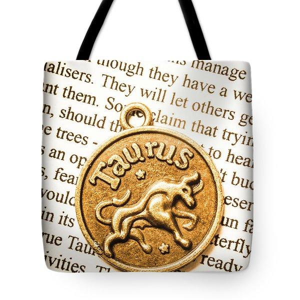 Texts In Taurus Tote Bag