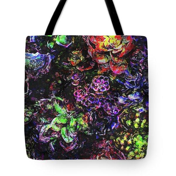 Textural Garden Plants Tote Bag