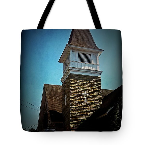 Tote Bag featuring the photograph Texture Drama Cathedral Cafe by Aimee L Maher Photography and Art Visit ALMGallerydotcom