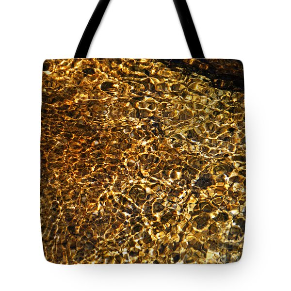 Tote Bag featuring the photograph Texture Of A Stream by Lynda Lehmann