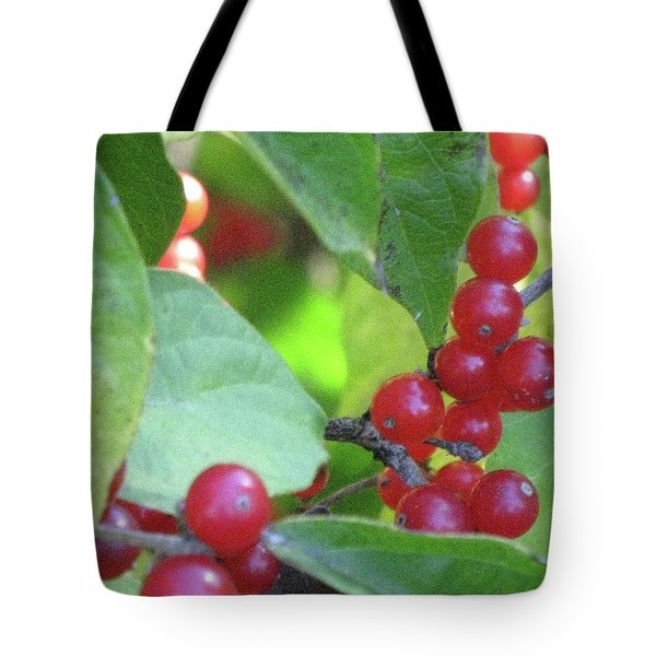Textured Berries Tote Bag by Michele Wilson