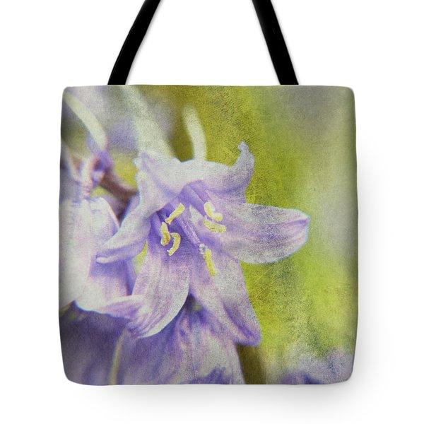 Textured Bluebells Tote Bag