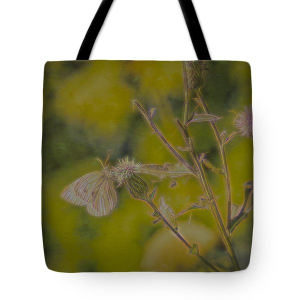 Tote Bag featuring the photograph Textured Butterfly 1   by Leif Sohlman