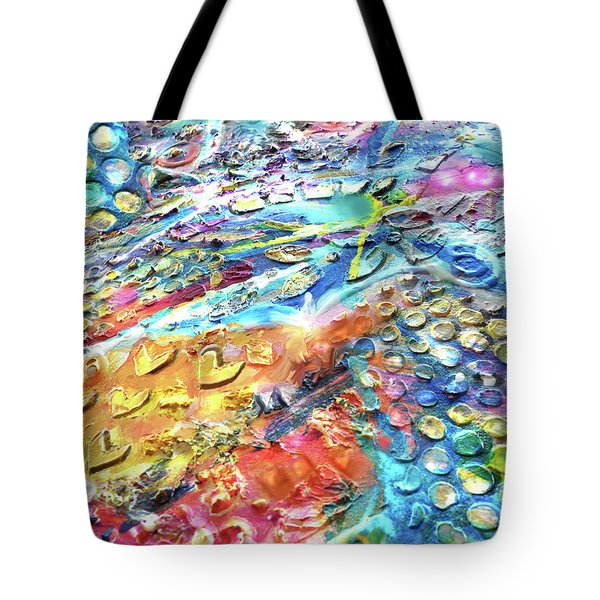 Textured Color Play 2 Tote Bag