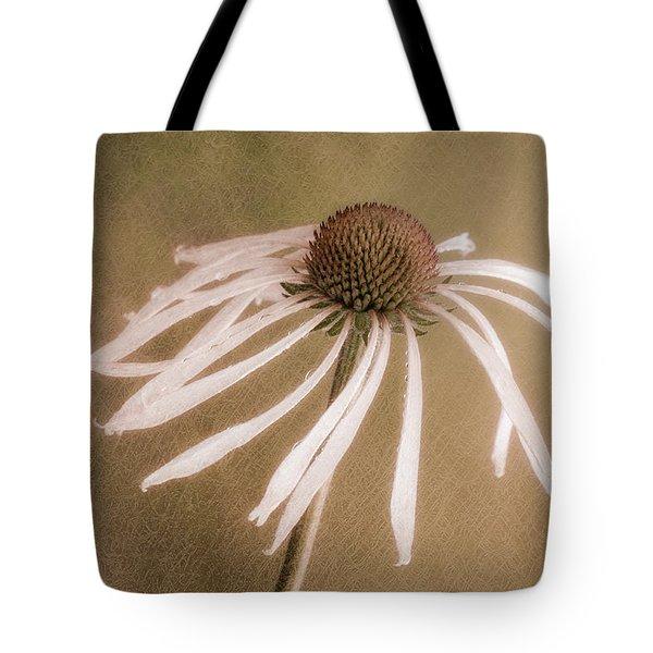 Textured Coneflower Tote Bag