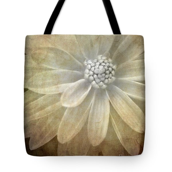 Textured Dahlia Tote Bag
