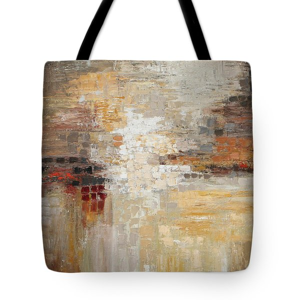 Textured Earth Tone Tote Bag