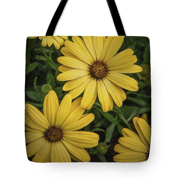Textured Floral Tote Bag