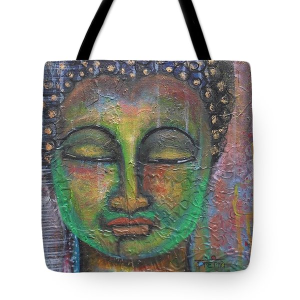 Textured Green Buddha Tote Bag