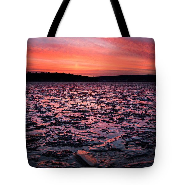 Textured Ice Tote Bag