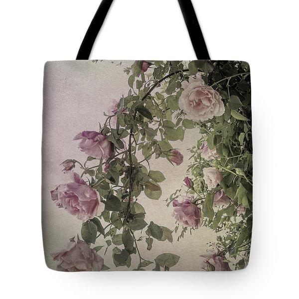 Textured Roses Tote Bag